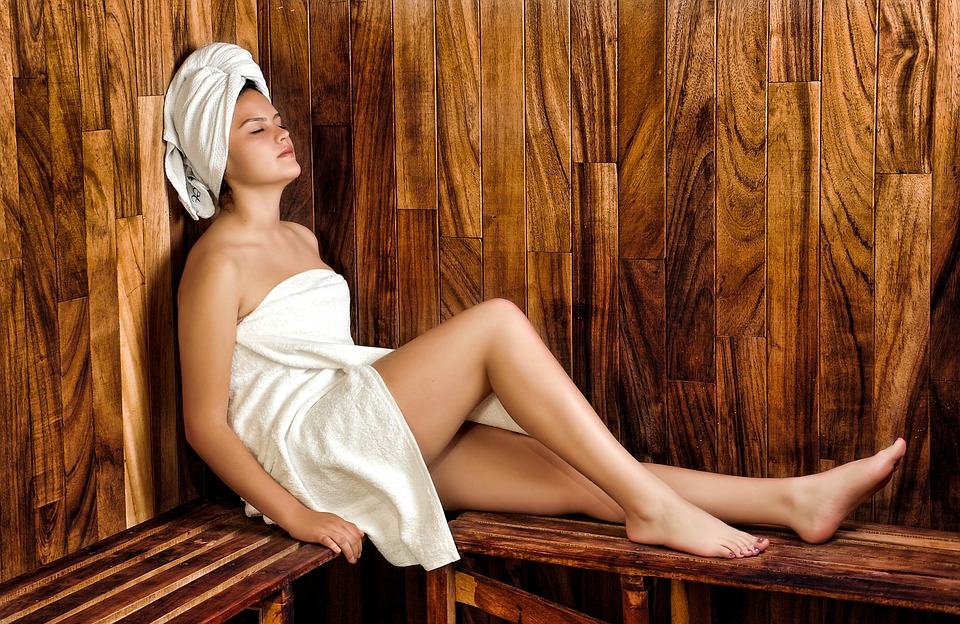 women-Sauna in a Steam Room